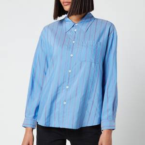 A.P.C. Women's Boyfriend Stripe Shirt - Blue