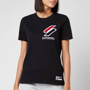 Superdry Women's Sportstyle Chenille T-Shirt - Black