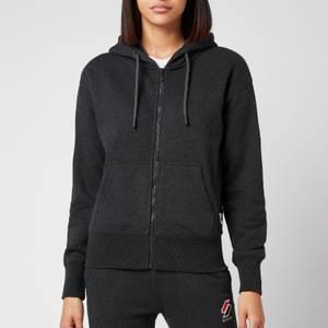 Superdry Women's Sportstyle Zip Hoodie - Dark Charcoal Marl