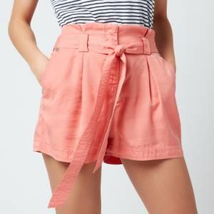 Superdry Women's Desert Paper Bag Shorts - Pomegranate