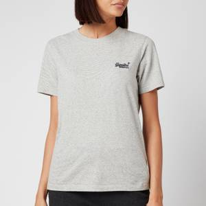 Superdry Women's Ol Classic T-Shirt - Silver Glass Feeder