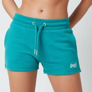 Superdry Women's Ol Classic Jersey Shorts - Ocean Green Marl