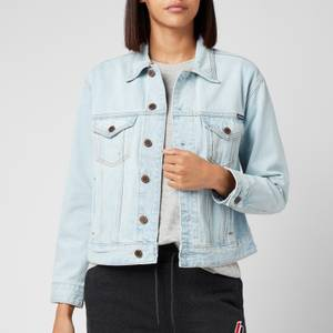 Superdry Women's Boyfriend Trucker Jacket - Tillary Blue Vintage