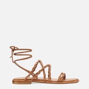 Stuart Weitzman Women's Calypso Leather Gladiator Sandals - Tan