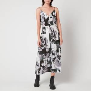 Baum Und Pferdgarten Women's Abiella Dress - Black Floral Collage