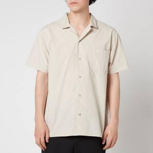 YMC Men's Malick Garment Dye Short Sleeve Shirt - Stone