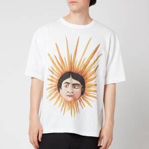 YMC Men's Sun Head Triple T-Shirt - Ecru