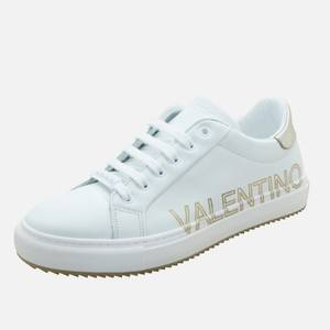 Valentino Shoes Women's Leather Low Top Trainers - White/Gold