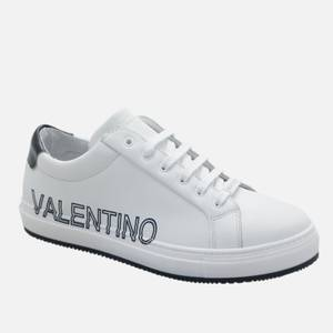 Valentino Shoes Men's Leather Low Top Trainers - White/Blue