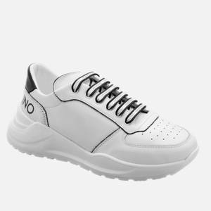 Valentino Shoes Men's Leather Running Style Trainers - White/Black