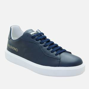 Valentino Shoes Men's Leather Cupsole Trainers - Blue