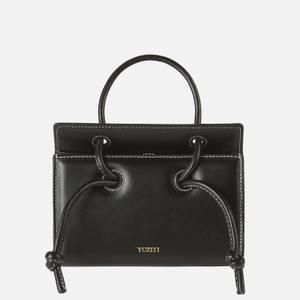 Yuzefi Women's Mini Taco Leather Bag - Black