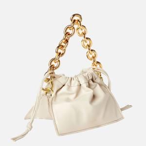 Yuzefi Women's Mini Bom Leather Bag - Oatmeal