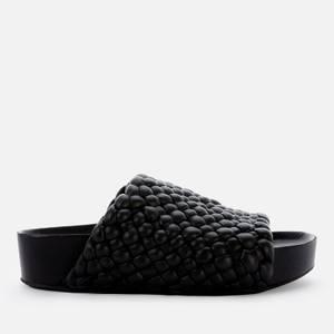 Simon Miller Women's Vegan Woven Dip Slide Sandals - Black