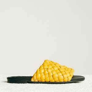 Simon Miller Women's Vegan Slit Slide Sandals - Yolk Yellow