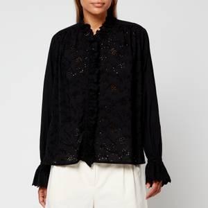 Skall Studio Women's Bay Cotton Shifli Shirt - Black