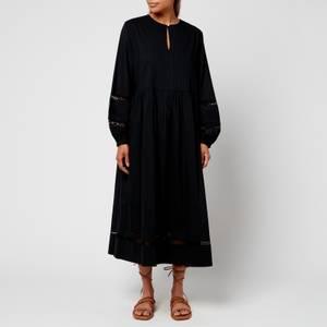 Skall Studio Women's Olive Cotton Dress - Black