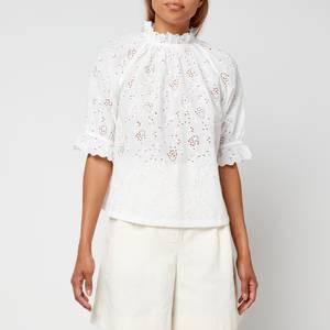 Skall Studio Women's Bay Cotton Blouse - Optic White