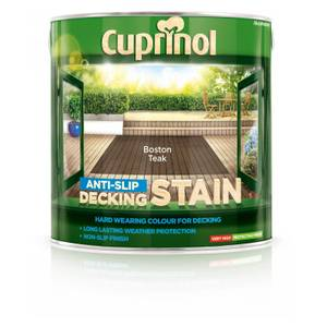 Cuprinol Anti Slip Decking Stain - Boston Teak - 2.5L