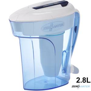 ZeroWater 12 Cup Ready Pour Water Filter Jug - 2.8l