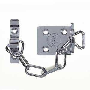 Yale WS6 TS003 rated Security Door Chain - Polished Chrome