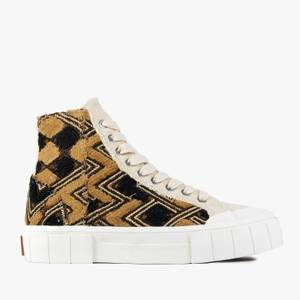Good News Men's Moroccan Palm Hi-Top Trainers - Oatmeal