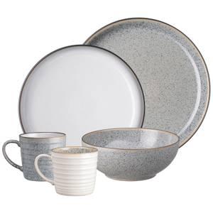 Denby Studio Grey 16 Piece Tableware Set