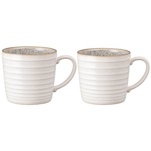 Denby Studio Grey White Ridged Mug (Set of 2)