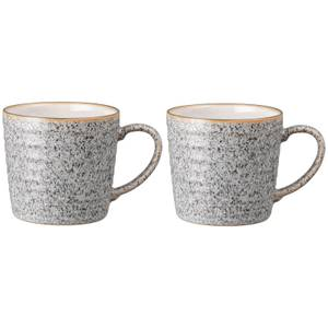 Denby Studio Grey Ridged Mug (Set of 2)