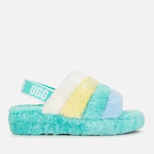 UGG Women's Fluff Yeah Sheepskin Slippers - Tide Pool Multi