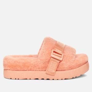 UGG Women's Fluffita Sheepskin Slide Sandals - Beverly Pink