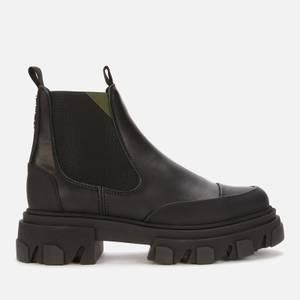 Ganni Women's Leather Chelsea Boots - Black