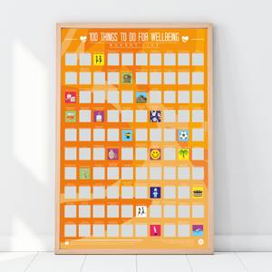 100 Things To Do For Your Wellbeing Scratch Off Bucket List Poster