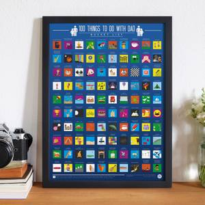 100 Things To Do with Dad Scratch Off Bucket List Poster
