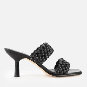 MICHAEL Michael Kors Women's Amelia Leather Heeled Mules - Black