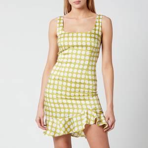 De La Vali Women's Christobel Dress - Green Polka Dot