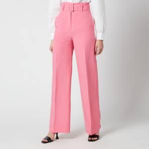 De La Vali Women's Lily Trousers - Pink Solid