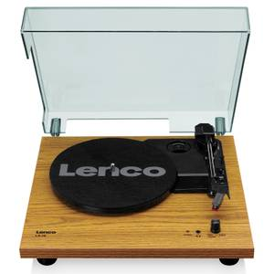 Lenco LS-10 WD Turntable with Built-in Speakers - Wood