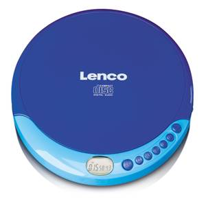 Lenco CD-011 Portable CD Player - Blue