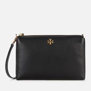 Tory Burch Women's Kira Pebbled Top Zip Cross Body Bag - Black