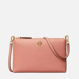Tory Burch Women's Kira Pebbled Top Zip Cross Body Bag - Pink Magnolia