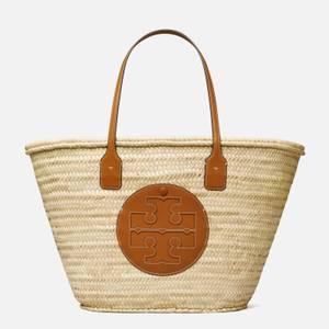 Tory Burch Women's Ella Straw Basket Tote Bag - Natural/Classic Cuoio
