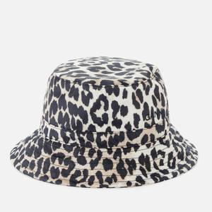 Ganni Women's Leopard Print Bucket Hat - Multi