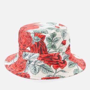 Ganni Women's Rose Print Bucket Hat - Brazilian Sand