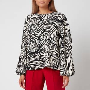 Stine Goya Women's Dianne Top - Zebra Black