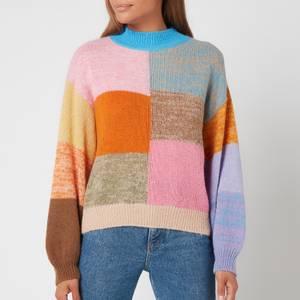 Stine Goya Women's Adonis Gingham Knitted Jumper - Multi
