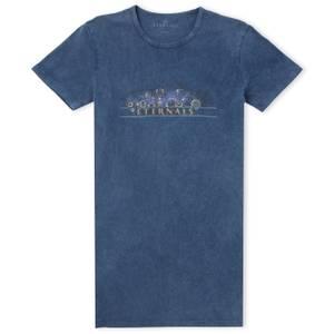 Marvel Eternals Gold Rings Vestito T-shirt Donna - Blu Scolorito