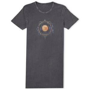 Marvel Eternals Gold Ring With Constellations Vestito T-shirt Donna - Nero Scolorito