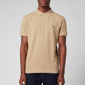 Polo Ralph Lauren Men's Custom Slim Fit Mesh Polo Shirt - Boating Khaki