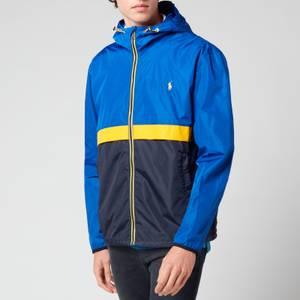 Polo Ralph Lauren Men's Water-Repellent Hooded Jacket - Sapphire Star/Navy/Yellow